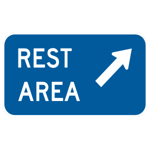 Rest Area Here Sticker