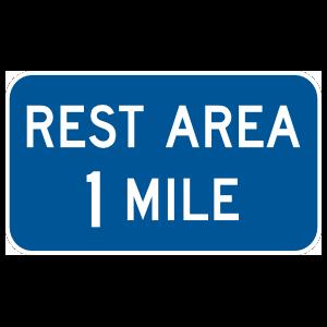 Rest Area 1 Mile Magnet