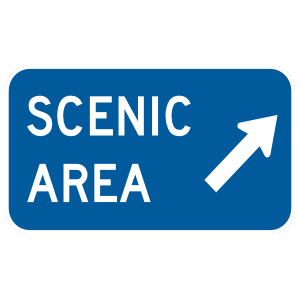 Scenic Area Here Sticker