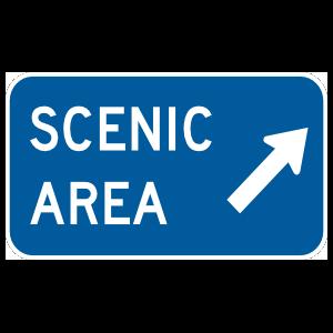 Scenic Area Here Magnet