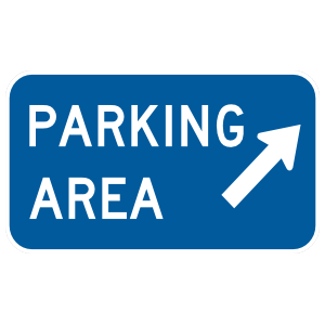 Parking Area Here Magnet