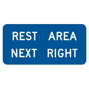 Rest Area Next Right Sticker