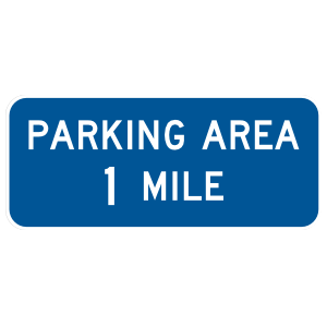 Parking Area 1 Mile Sticker