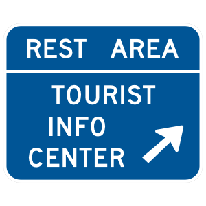 Rest Area Tourist Info Center Here Sticker