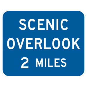 Scenic Overlook 2 Miles Sticker
