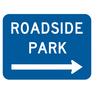 Roadside Park To Right Sticker