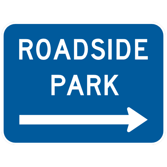 Roadside Park To Right Sticker
