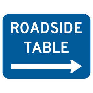 Roadside Table To Right Sticker