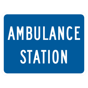 Ambulance Station Sticker