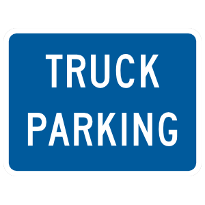 Truck Parking Sticker