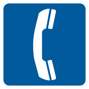 Telephone Sign Sticker