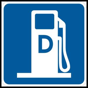 D Gas Station Magnet