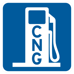 CNG Gas Station Sticker