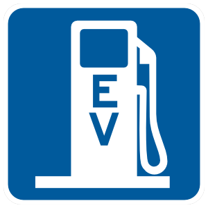 EV Gas Station Sticker