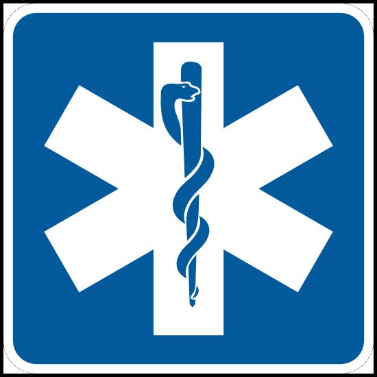 Hospital Symbol Sticker