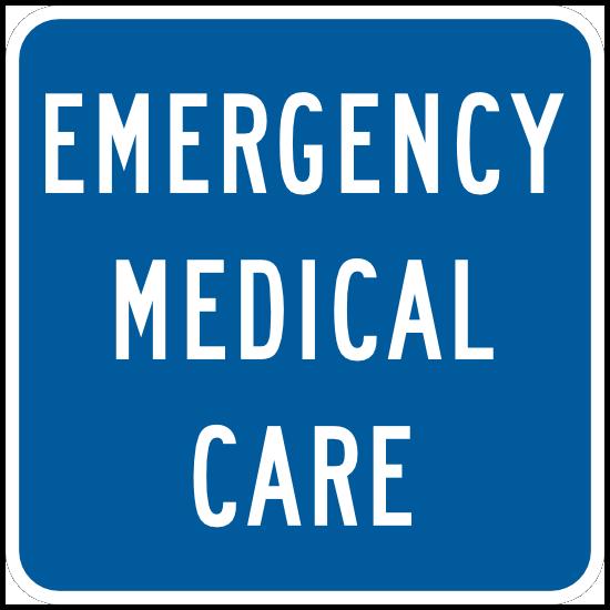 Emergency Medical Care Sticker