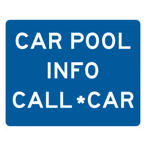 Carpool Info Call *Car Magnet
