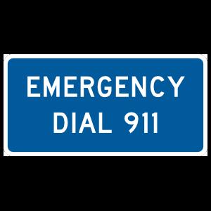 Emergency Dial 911 Magnet