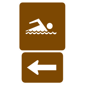 Swimming To The Left Sticker