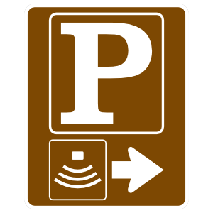 Theater Parking Right Sticker