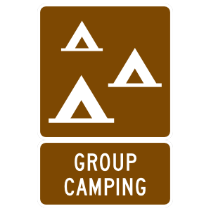 Group Camping Magnet