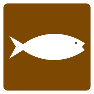 Fish Fishing Sign Sticker