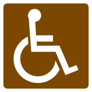 Handicapped Area Sticker