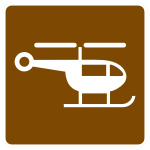 Helicopter Sign Sticker