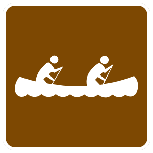 Two Person Canoeing Sticker