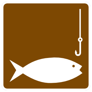 Fishing Fish Sign Sticker