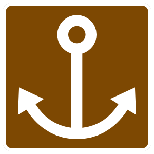 Anchor Sign Sticker