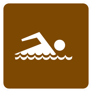 Swimming Area Sticker