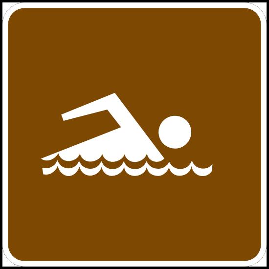 Swimming Area Sticker