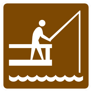 Fishing Off Deck Sticker