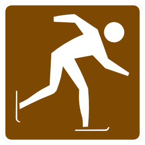 Ice Skating Sticker