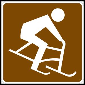 Bike Skiing Sticker