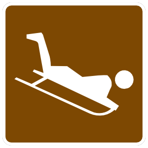 Sledding Sticker