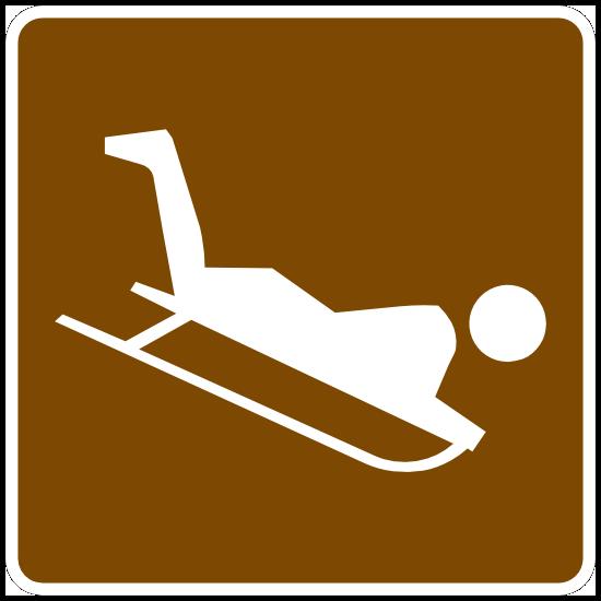 Sledding Sticker