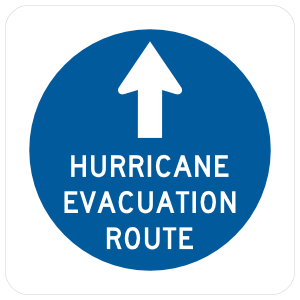 Hurricane Evacuation Ramp Sticker