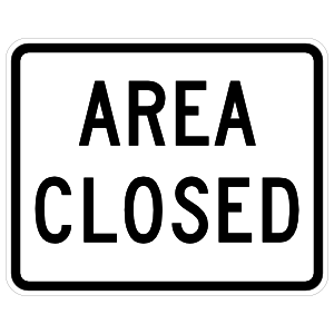 Area Closed Sign Sticker