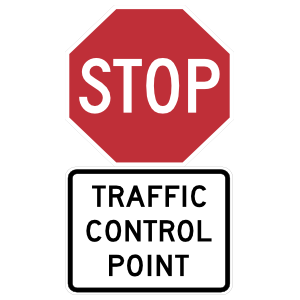 Stop Traffic Control Point Sticker