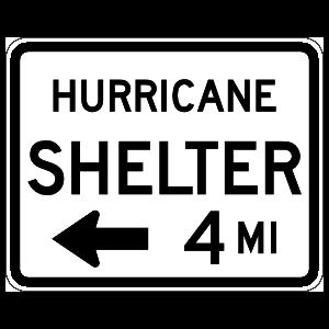 Hurricane Shelter 4 Miles To Left Magnet