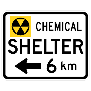 Chemical Shelter 6 Km To Left Sticker