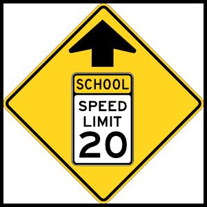 School 20 Mph Ahead Sticker