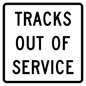 Tracks Out Of Service Sticker