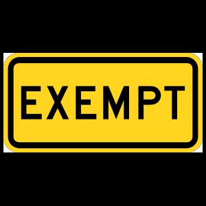 Warning Exempt Magnet