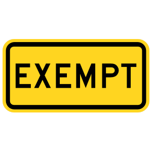 Warning Exempt Sticker Car Stickers