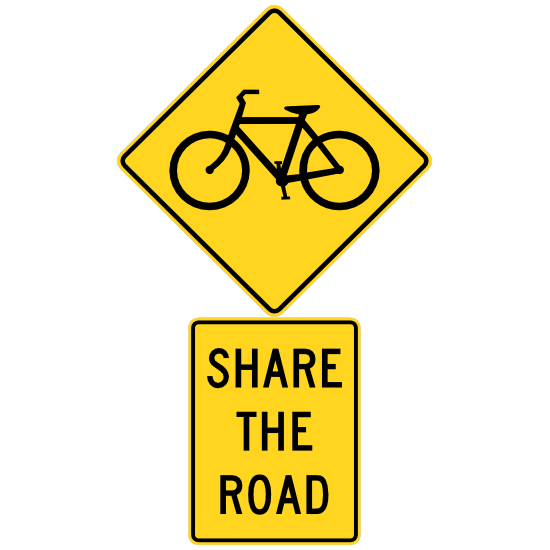 Bicycles Share The Road Sticker