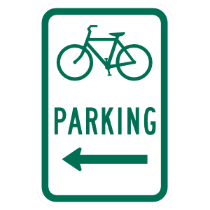 Bicycle Parking Sticker