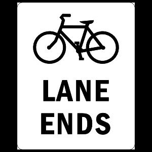 Bike Lane Ends Sticker